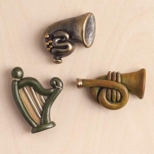 μαγνητάκια-μουσικά-όργανα-ρετρό