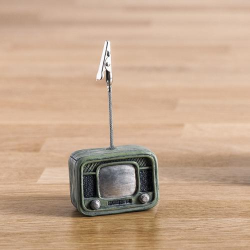χαρτοστάτης-τηλεόραση-ρετρό